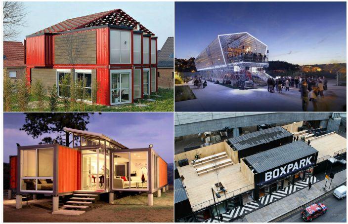 Невероятни сгради, изградени от контейнери за превоз.