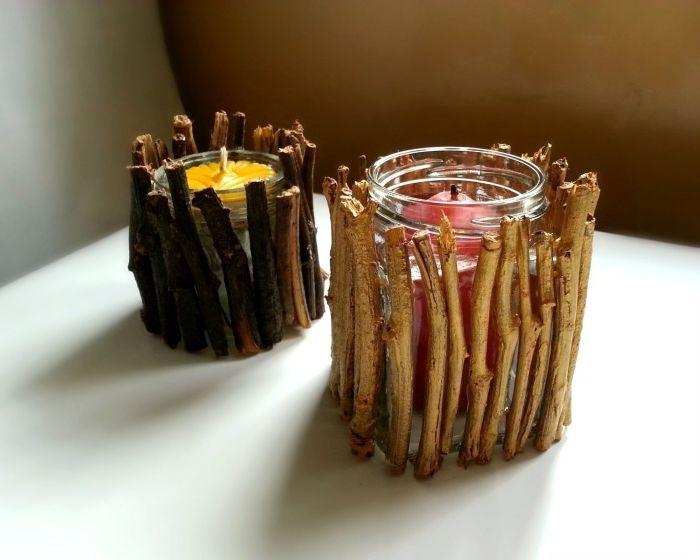 Оригинална декорация за обикновени свещи.