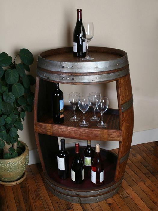 Оригинален начин за съхранение на бутилки за вино.