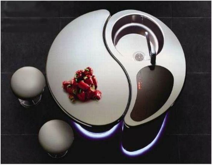 Футуристическая раковина от японского производителя Toyo Kitchen.