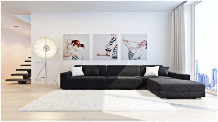 Игрива и жива картина от три секции - носи специално настроение в стаята.
