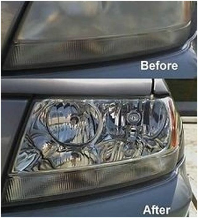 Użyj pasty do zębów, aby dobrze wyczyścić reflektory.