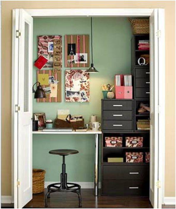 Дори и най-малкото помещение за съхранение може да се превърне в работно място.