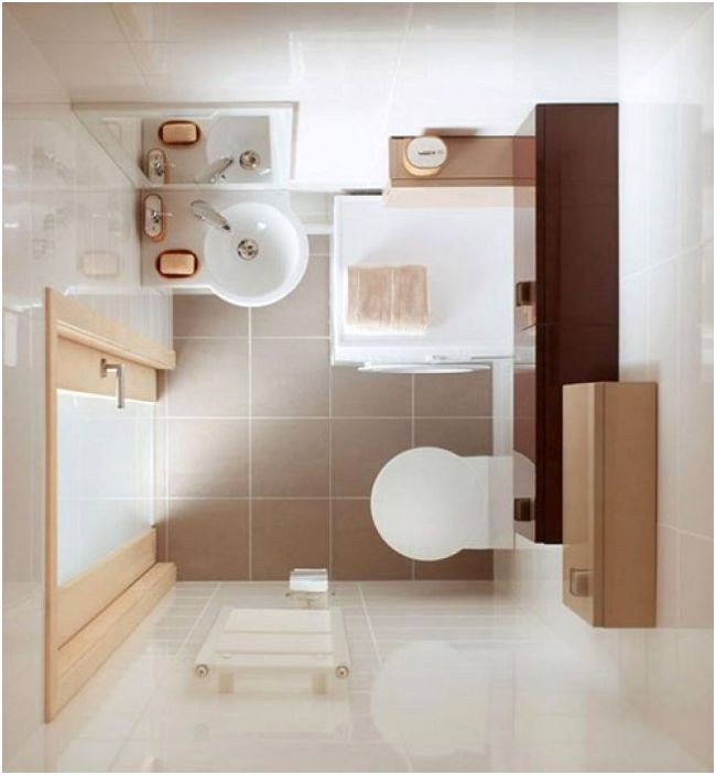 Врата за баня със стъклена вложка ще добави светлина и визуално ще увеличи пространството.