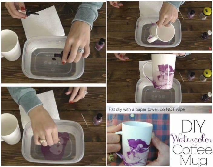 Лесен начин да украсите красиво своята чаша с лакове за нокти.