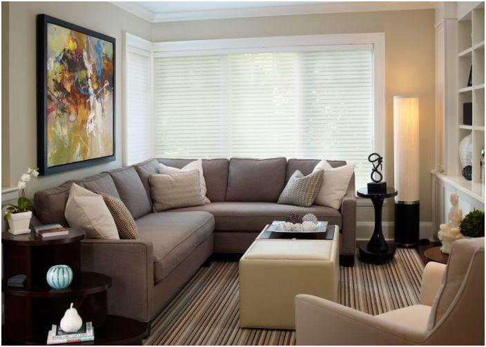 11. Расстановка мебели в маленькой гостиной