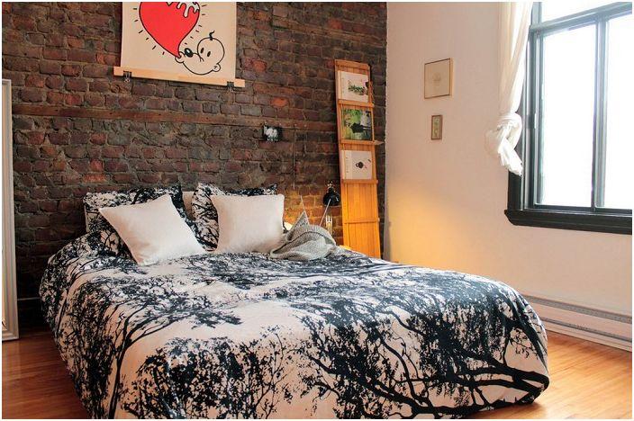 Тухла е идеален за спалнята.
