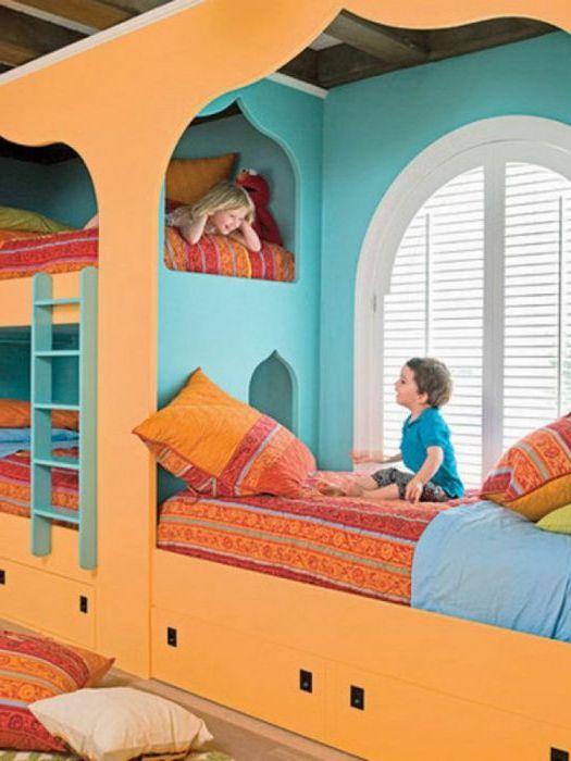Pokój dziecięcy w stylu orientalnym.