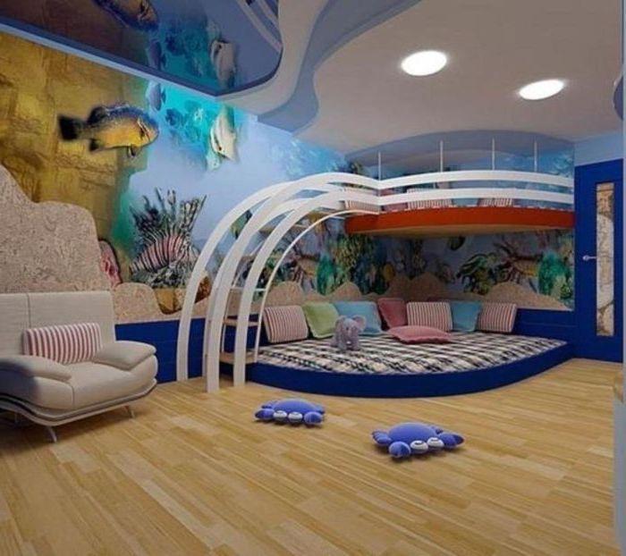 Детская комната в подводном мире.
