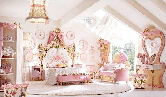 Симпатичната розова момичешка стая е просто небе за истинска малка принцеса.