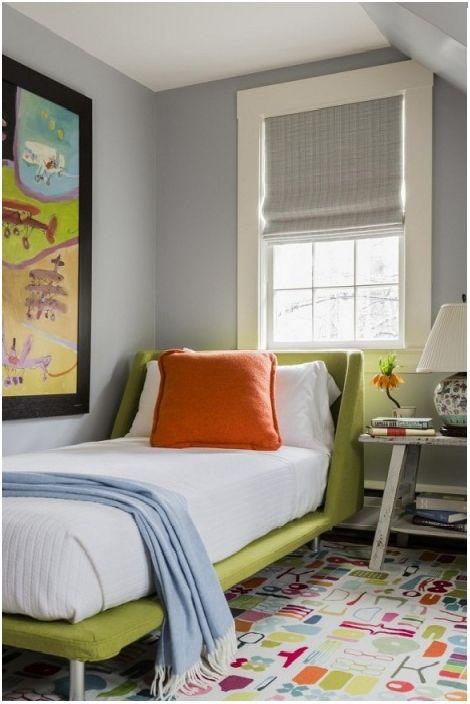 Детска стая в ярки цветове ще добави слънчево настроение и ще даде още повече положителни емоции.