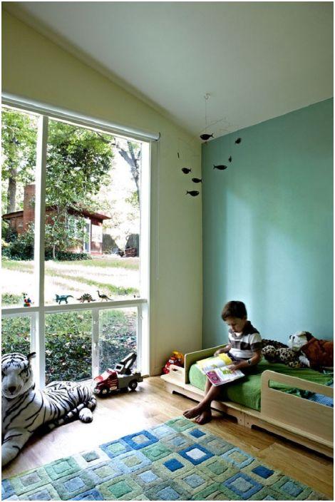 Детската стая Art Nouveau с ментови цветове ще направи спалнята още по-уютна и още по-добро настроение.