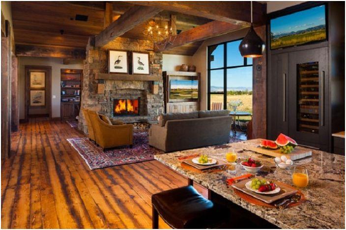 Уютна стая с красива гледка от прозореца.