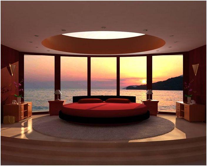 Pomieszczenie z jasnym oświetleniem i dużym oknem, które dodaje specyficznego koloru i niezwykłych nut inspiracji.
