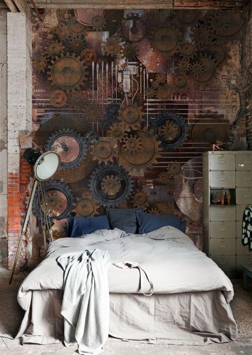 Оригинален начин за декориране на стената.