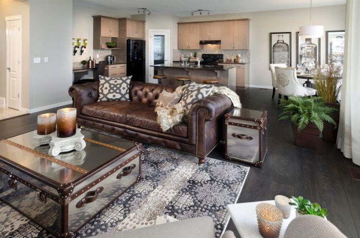 Кожените мебели са не само много удобни, но и елегантни.