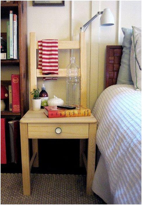 Отлично решение да направите маса със собствените си ръце от стол, за да създадете домашна среда.