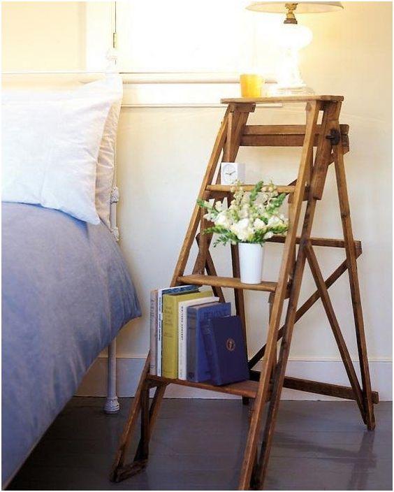 Направи си сам маса от стълба, необичайно и креативно решение за подреждане на стая.
