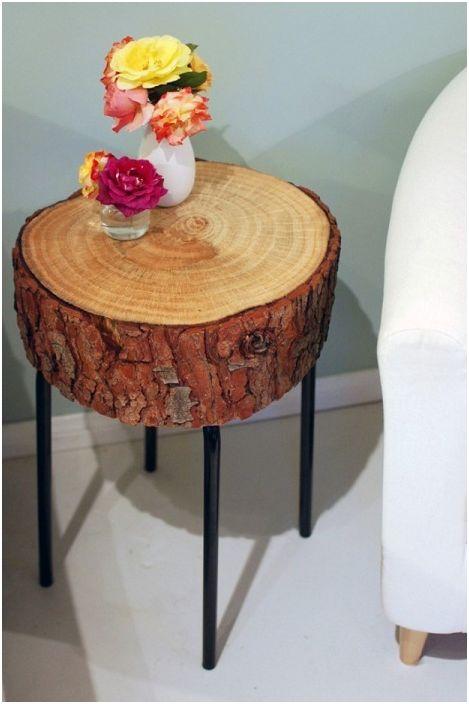 """Красива дървена масичка """"Направи си сам"""" ще украси стаята и ще помогне да се организира по-удобно пространство за отдих."""