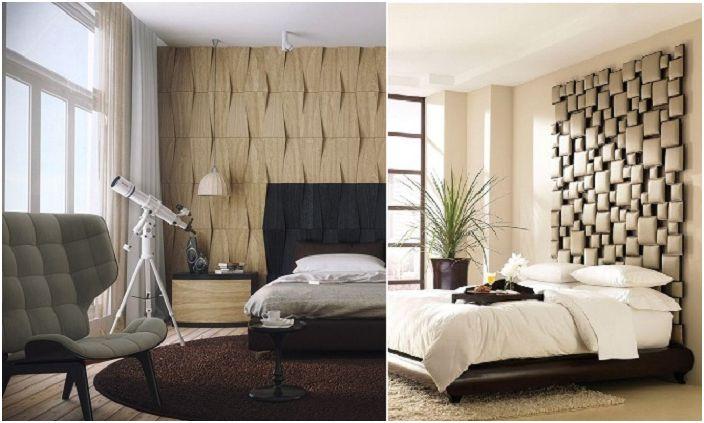 Интересна интериорна декорация на спалнята.