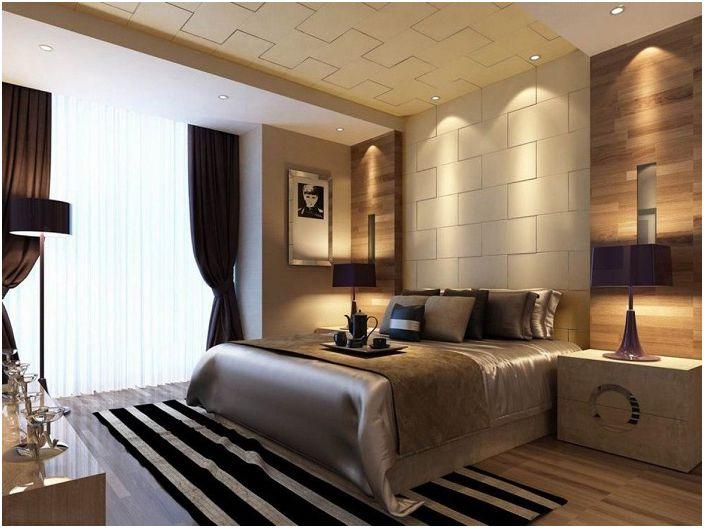 Интересна декорация на стени, допълнена от необичайно осветление.