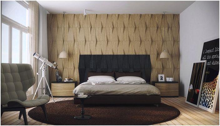 Текстурирана стена, която идеално се вписва в интериора.