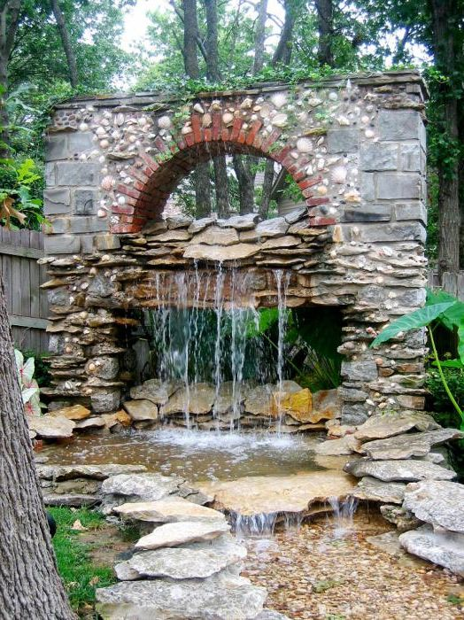 Водопад в каменна арка.