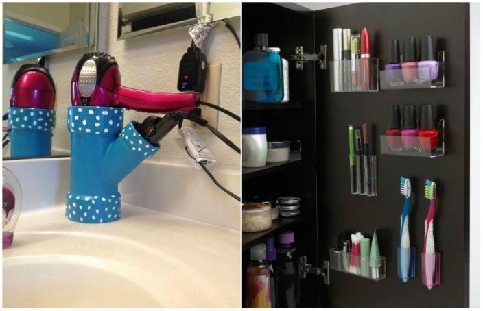 Ciekawe pomysły na przechowywanie rzeczy w łazience.
