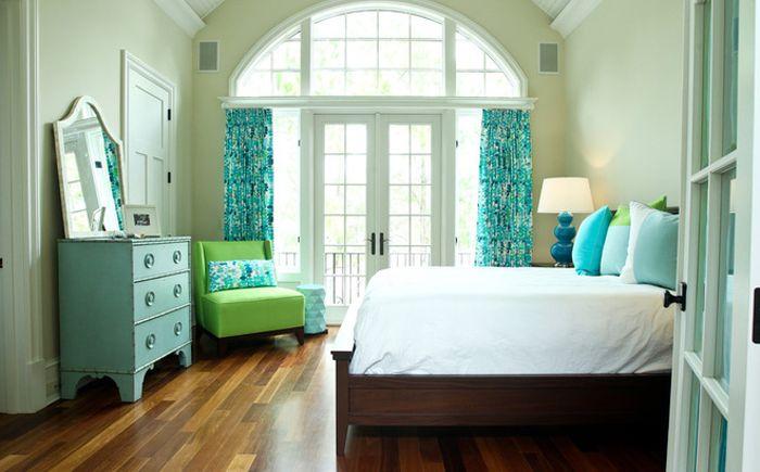 Lysegrønn og himmelblå i interiøret