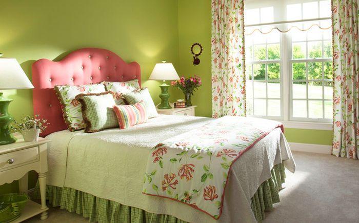 Зелено и розово в интериора