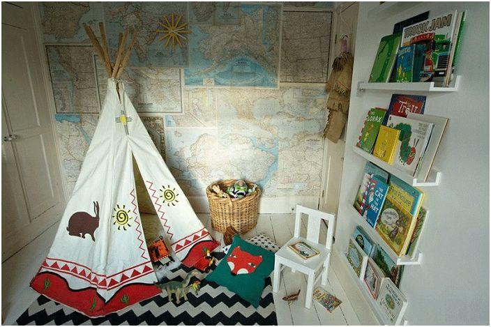 В дизайна на детската стая можете да комбинирате различни ярки цветове - децата го харесват.