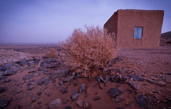 Opuszczony dom w Maroku.