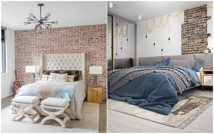 Декорация на спалня в индустриален стил.