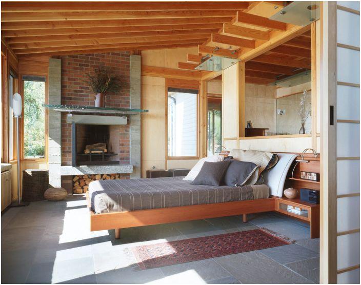 Уютна и светла спалня в нестандартен модерен стил - възможност за самоизразяване при декориране на вашето лично пространство.