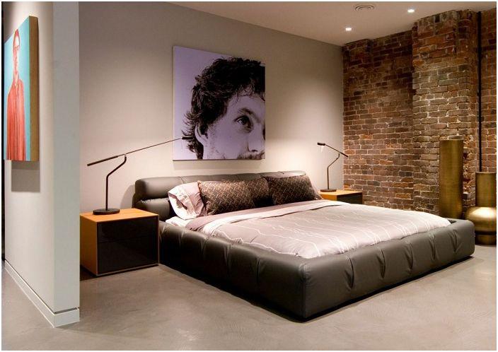Красив дизайн на спалня в индустриален стил е идеален за трансформиране на стая, която ще й даде нов живот.
