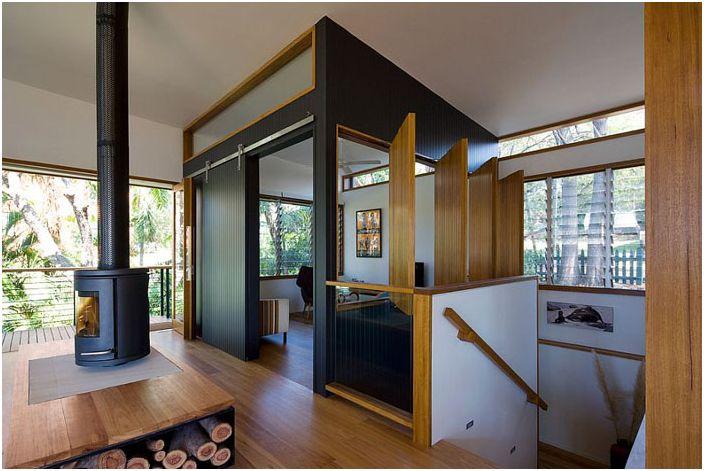 Зрителна зона за телевизия от Matt Elkan Architect