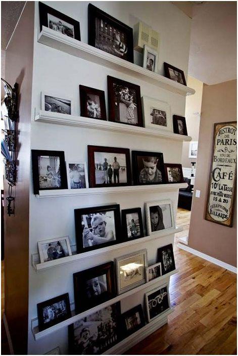Възможно е да украсите всеки интериор на стаята, като използвате фотографии.