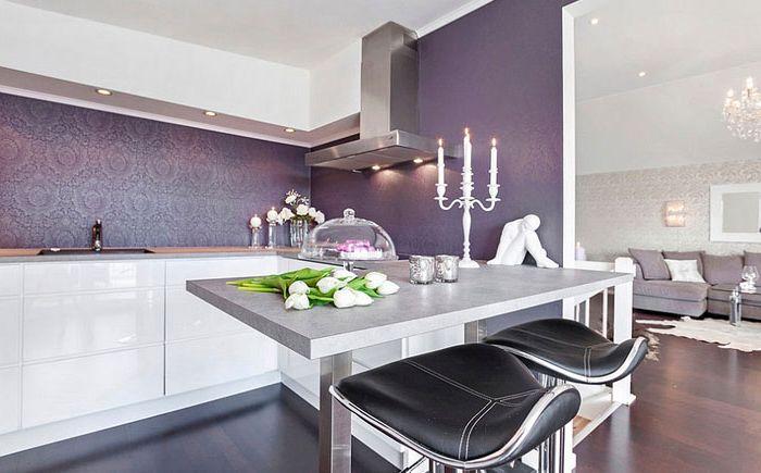 Луксозен люляк в кухненския интериор от Силвия Фридман