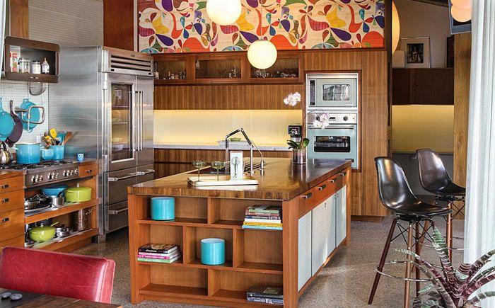 Lyse farger på kjøkkenet av Native Son Design Studio