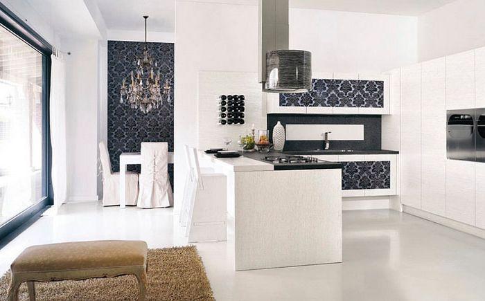 Тапети в кухнята и трапезарията