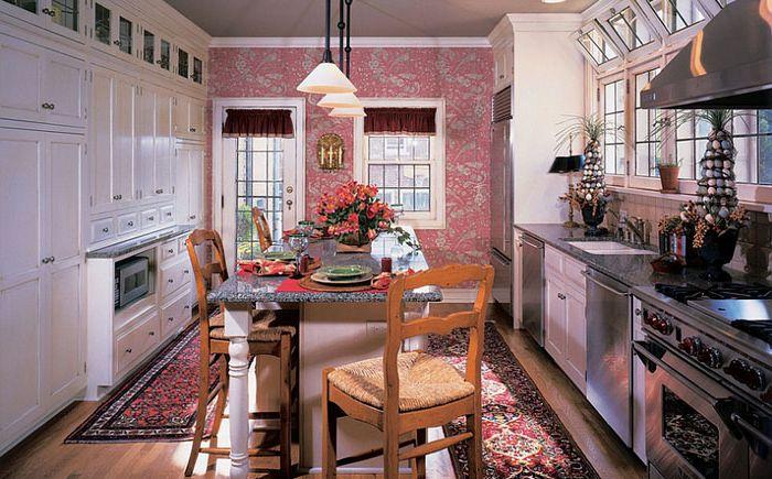 Розова акцентна стена от Kleppinger Design