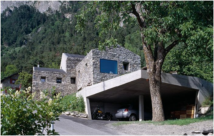 Автентична планинска архитектура в Швейцария