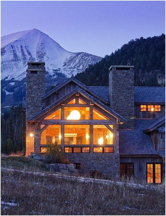 Идеальный загородный дом для зимнего отдыха в Биг-Скай, Монтана