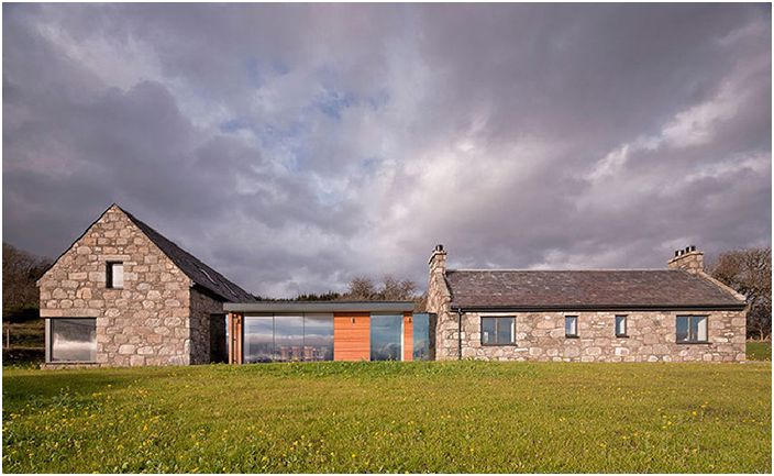 Каменна вила в Шотландия: проектът Torispardon