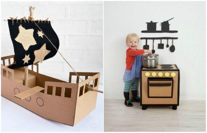 Замечательные игрушки из ненужных коробок.