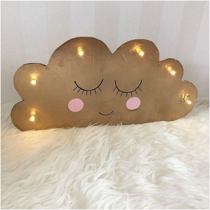 Милый светильник в виде облака.