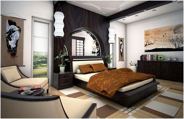 Zen-stil soverom interiør
