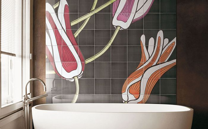 Живописна акцентна стена от Ceramica Bardelli