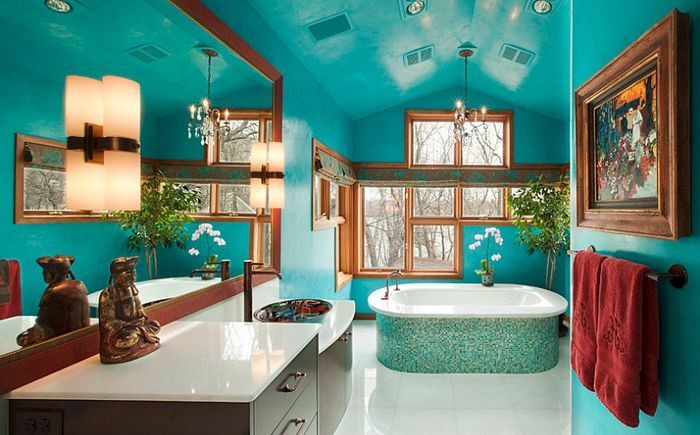 Луксозна баня от Сюзън Е. Браун Интериорен дизайн