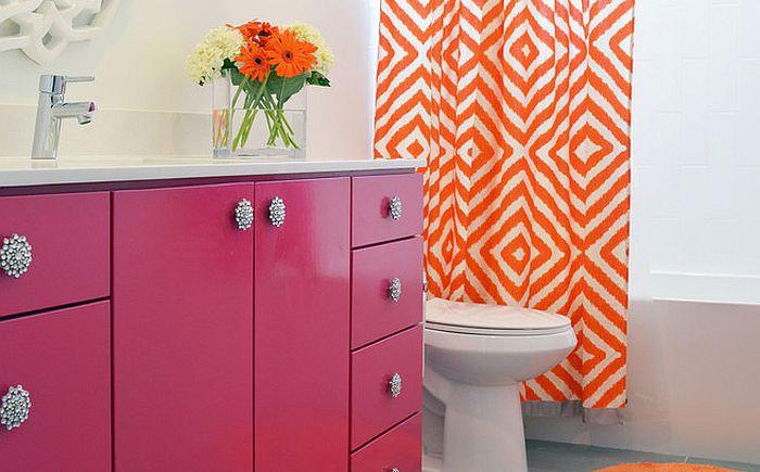 Розови и оранжеви интериорни акценти от New Leaf Construction